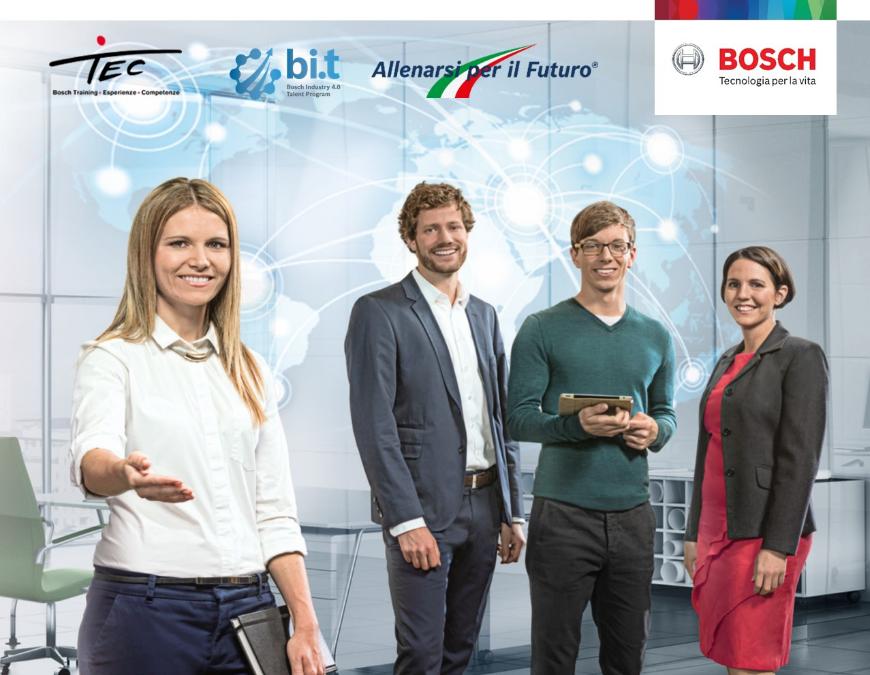 c22543abb9 Dopo il successo di Bosch Industry 4.0 Talent Program, sono aperte le  candidature per la seconda edizione del progetto. Bosch, infatti, è alla  ricerca di 15 ...